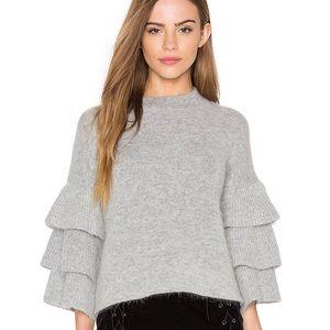 Sweaters - Tiered Ruffle sleeve sweater lot of 2